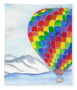 Hot Air Balloon 04 Fleece Blanket