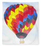 Hot Air Balloon 05 Fleece Blanket