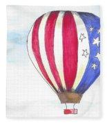 Hot Air Balloon 07 Fleece Blanket
