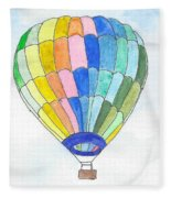 Hot Air Balloon 08 Fleece Blanket