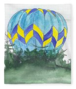Hot Air Balloon 09 Fleece Blanket