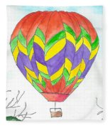 Hot Air Balloon 10 Fleece Blanket