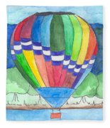 Hot Air Balloon 11 Fleece Blanket