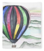 Hot Air Balloon 12 Fleece Blanket
