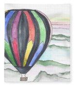 Hot Air Balloon 12 Fleece Blanket