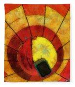 Hot Air Balloon Bottoms Up Photo Art Fleece Blanket