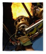 Hot Air Balloon Burner Fleece Blanket