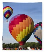 Hot Air Balloon Festival In Decatur Alabama  Fleece Blanket