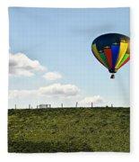 Hot Air Balloon In The Farmlands Fleece Blanket