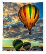 Hot Air Balloon Lift Off Fleece Blanket