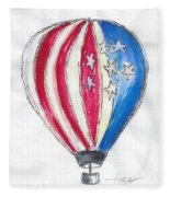Hot Air Balloon Misc 01 Fleece Blanket