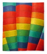 Hot Air Balloon Painterly Fleece Blanket