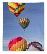 Hot Air Balloon Race Fleece Blanket