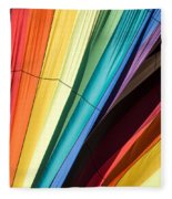 Hot Air Balloon Rainbow Fleece Blanket