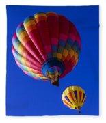 Hot Air Ballooning Together Fleece Blanket