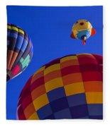Hot Air Balloons Launch Fleece Blanket