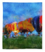 Hot Air Balloons Photo Art 01 Fleece Blanket