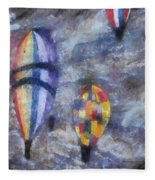 Hot Air Balloons Photo Art 02 Fleece Blanket