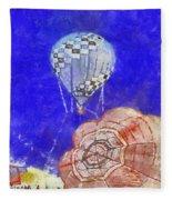 Hot Air Balloons Photo Art 04 Fleece Blanket
