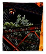 Hot Bridge At Night Fleece Blanket