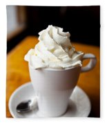 Hot Chocolate With Creme Chantilly Fleece Blanket