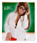 Hot For Teacher Fleece Blanket