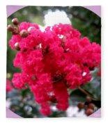 Hot Pink Crepe Myrtle Blossoms Fleece Blanket