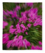 Hot Pink Flower Zoom Fleece Blanket