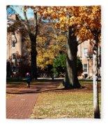 Hot Pink Hoodie - Davidson College Fleece Blanket