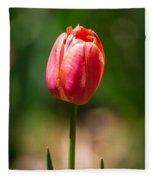 Hot Pink Tulip Fleece Blanket