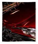Hot Red Car  Fleece Blanket
