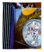 Hot Rod Show Car Light Fleece Blanket