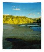 Hot Springs Yellowstone Fleece Blanket