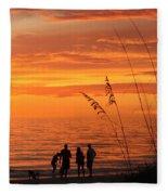 Hot Sunset Fleece Blanket