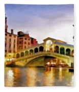 Hot Venetian Nights Fleece Blanket