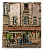Hotel Central In Beaune France Fleece Blanket