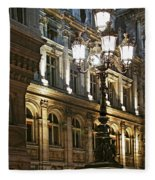 Hotel De Ville In Paris Fleece Blanket