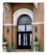 Hotel Door Entrance Fleece Blanket