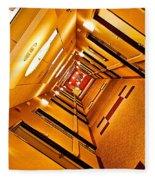 Hotel Hallway Fleece Blanket
