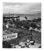 Hotel Pierre Dun Laoghaire 1958 Fleece Blanket