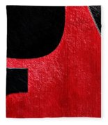 Hour Glass Guitar 4 Colors 1 - Tetraptych - Red Corner - Music - Abstract Fleece Blanket