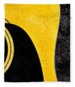 Hour Glass Guitar 4 Colors 1 - Tetraptych - Yellow Corner - Music - Abstract Fleece Blanket
