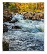 Housatonic River Autumn Fleece Blanket