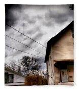 Old House 3 Fleece Blanket