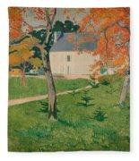 House Among Trees Fleece Blanket