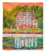 House By The Tidal Creek At Pawleys Island Fleece Blanket