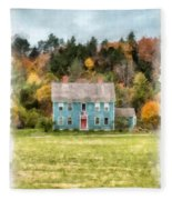 House By The Woods Fleece Blanket