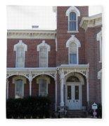 House In Denison Texas Fleece Blanket