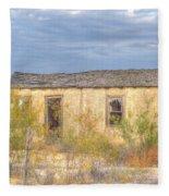 House In Ft. Stockton I Fleece Blanket