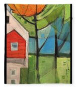 House In The Trees Fleece Blanket